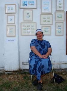 Мила Елисеева, гость 16-ой Подзаборной Выставки